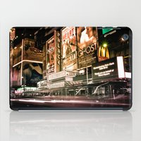 broadway iPad Cases featuring Lights on Broadway by Allen G.