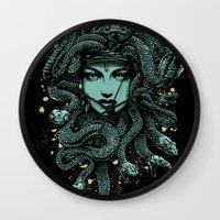 medusa Wall Clocks featuring Medusa by miles to go