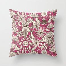 sarilmak pink brown Throw Pillow