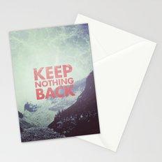 Keep Nothing Back Stationery Cards