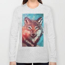 Wolf - Stare - Wanderlust Long Sleeve T-shirt