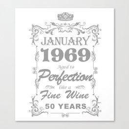 January 1969 50th Birthday Canvas Print