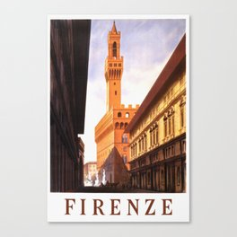 Vintage Florence Italy Travel Canvas Print