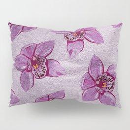 Orchids Pattern Pillow Sham