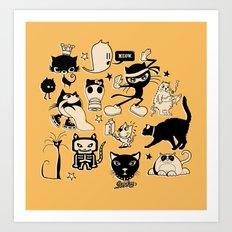 Cat Menagerie Art Print