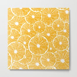 Orange slices pattern design Metal Print