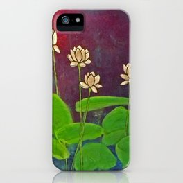 Lotus Crop from Golden Buddha iPhone Case