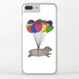 A Smol Hippo Clear iPhone Case