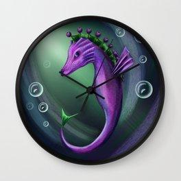 Blueberry sea horse Wall Clock