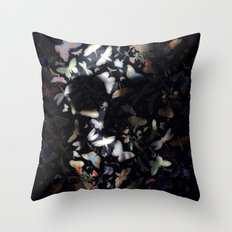 Butterfly And Skull Throw Pillow