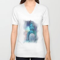 buddha V-neck T-shirts featuring Buddha by Digital-Art