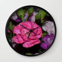 Pink carnation Wall Clock