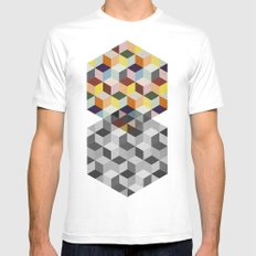 Dimension MEDIUM White Mens Fitted Tee