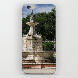 Garden Fountain Villa Vizcaya iPhone Skin