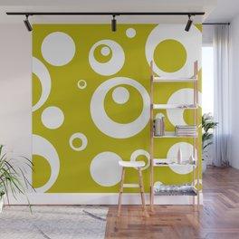 Circles Dots Bubbles :: Citron Wall Mural