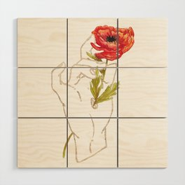 Poppy - Gold (Gilded Hands Series) Wood Wall Art