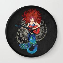 Musical Mermaid Wall Clock