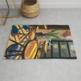 Pastel Painting | Cafe Morning Rug