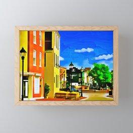 Fells Point Square, Baltimore, Maryland Framed Mini Art Print