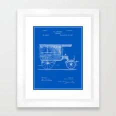 Vintage Ambulance Patent - Blueprint Framed Art Print