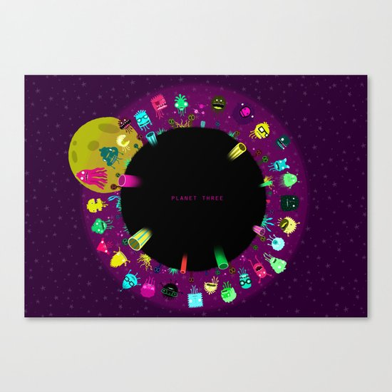 Planet Three Canvas Print