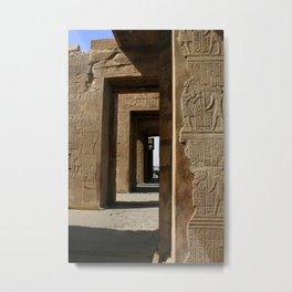 Temple Hieroglyphics Metal Print