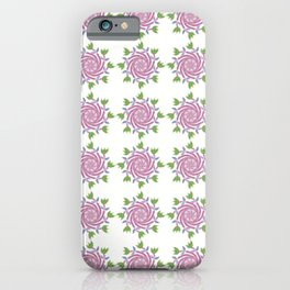 Swirls & Flowers-Pink iPhone Case