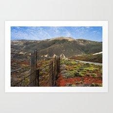 Big Sur Mountains Art Print