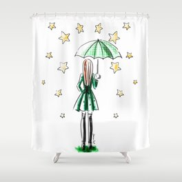 Star Showers Shower Curtain