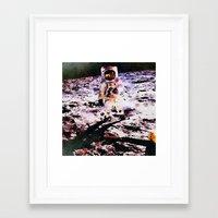 walk the moon Framed Art Prints featuring Moon Walk by Washington DC