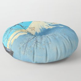 Tokuriki Tomikichiro Thirty Six Views of Mt Fuji From Harajiku Pine Forest Japanese Floor Pillow