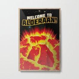 Welcome to Alderaan! | Defunct Planets Series No. 1 Metal Print