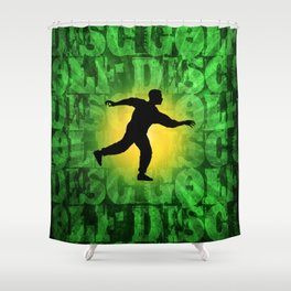 Disc Golfer Shower Curtain