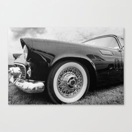 Vintage Black Car Canvas Print