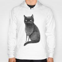 black cat Hoodies featuring Black Cat by Sophie Corrigan