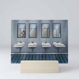 Public Bathroom-Horror, Monster, Blood Mini Art Print