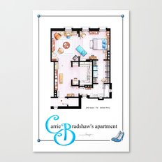 Carrie Bradshaw Apartment as a poster Canvas Print