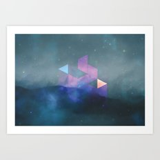 interlaced Art Print