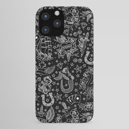 Old School Tattoo Pattern iPhone Case