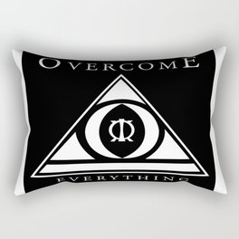 Over Come Everything Rectangular Pillow
