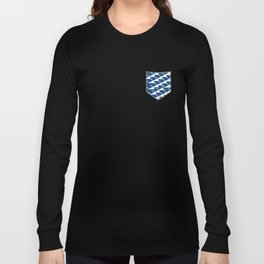 Whale in Blue Ocean with a Love Heart Long Sleeve T-shirt