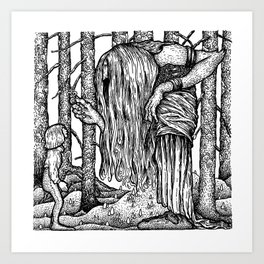 John Bauer Trollörten Art Print