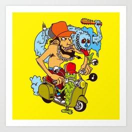 Let's goto surf! Art Print