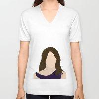 himym V-neck T-shirts featuring Robin Scherbatsky HIMYM by Rosaura Grant