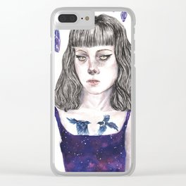 Crystal Nights Clear iPhone Case