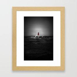 Lighthouse Glow Framed Art Print
