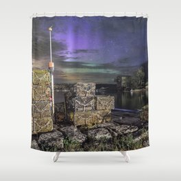 Lobster Trap Aurora Shower Curtain