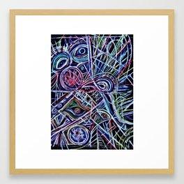 Eyes on a dancefloor Framed Art Print