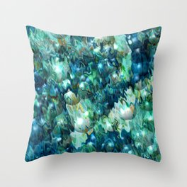Blue Christmas Abstract Throw Pillow