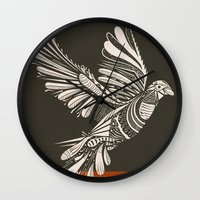 peace Wall Clocks featuring PEACE by Mathis Rekowski